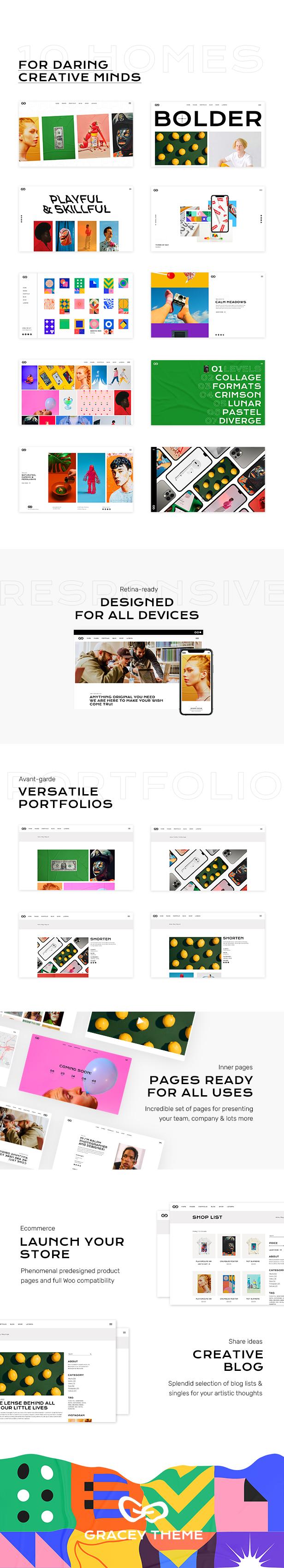 Gracey - Creative Portfolio Theme - 3